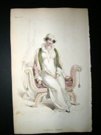 Ackermann 1812 Hand Col Regency Fashion Print. Morning Dress 7-26